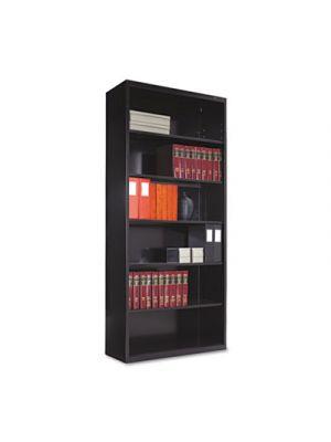 Metal Bookcase, Six-Shelf, 34-1/2w x 13-1/2d x 78h, Black