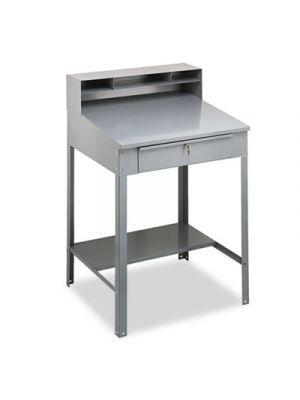 Open Steel Shop Desk, 34-1/2w x 29d x 53-3/4h, Medium Gray