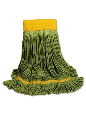 EcoMop Looped-End Mop Head, Recycled Fibers, Extra Large Size, Green