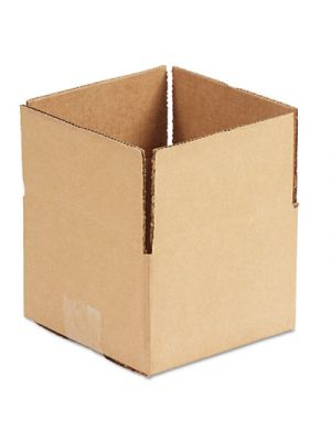 Brown Corrugated - Fixed-Depth Shipping Boxes, 6l x 6w x 4h, 25/Bundle