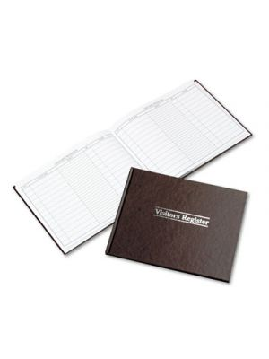 Visitor Register Book, Red Hardcover, 112 Ruled Pages, 8 1/2 x 11