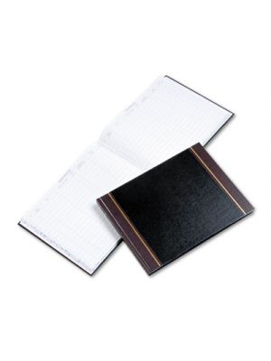 Detailed Visitor Register Book, Black Cover, 208 Ruled Pages, 9 1/2 x 12 1/4