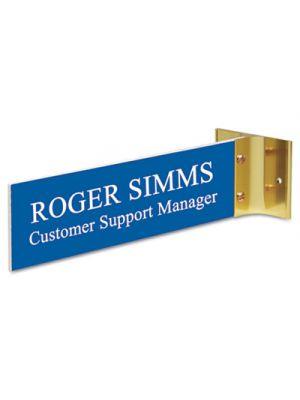 Custom Engraved Hallway Sign, 2x8, Silver Holder