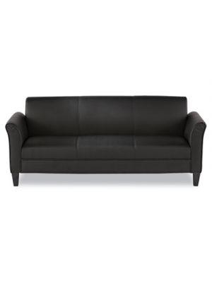 Alera Reception Lounge Furniture, 3-Cushion Sofa, 77w x 31-1/2d x 32h, Black
