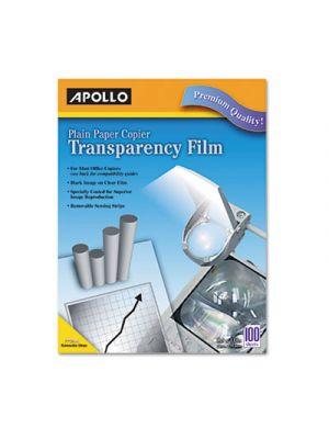 Plain Paper B/W Laser Transparency Film w/Handling Strip, Letter, Clear, 100/Box