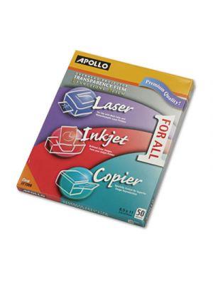 Color Laser/Inkjet Transparency Film, Letter, Clear, 50/Box