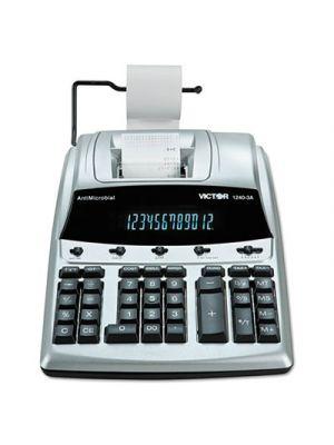 1240-3A Antimicrobial Printing Calculator, Black/Red Print, 4.5 Lines/Sec