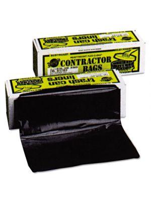 Heavyweight Contractor Bags, 35 x 56, 55gal, 3mil, Black, 30/Box