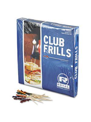 Club Cellophane-Frill Wood Picks, 4