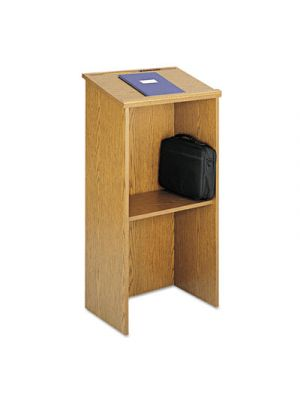 Stand-Up Lectern, 23w x 15-3/4d x 46h, Medium Oak