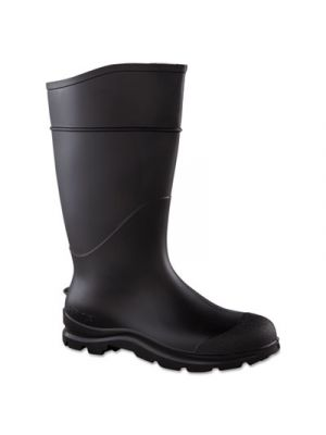 CT Economy Knee Boots, Size 10, 15in Tall, Black, PVC