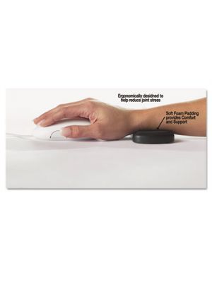 Rolling Wrist Rest, 5 x 2 1/2 x 5/8, Black