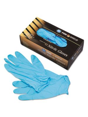 Industrial Grade Nitrile Disposable Gloves, Powdered, Large, 100/Box