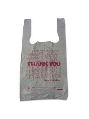 Thank You High-Density Shopping Bags, 10w x 5d x 19h, White, 2000/Carton