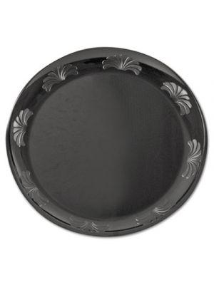 Designerware Plastic Plates, 7 1/2 Inches, Black, Round, 10/Pack, 18/CT