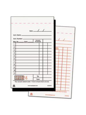 Sales Receipt Book, Carbon Duplicate, 3 2/5 x 5 3/5, 50/Book, 100 Books/Carton