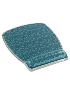 Fun Design Clear Gel Mouse Pad Wrist Rest, 6 4/5 x 8 3/5 x 3/4, Chevron Design