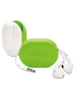 Flex Earbud Wrap w/Belt Clip, Lime Green
