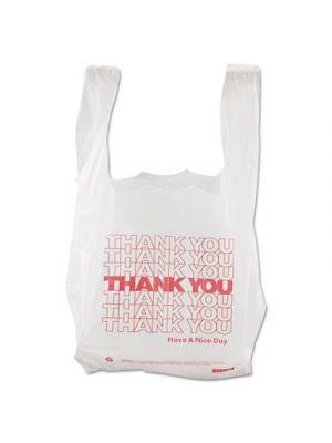 Thank You High-Density Shopping Bags, 8w x 4d x 16h, White