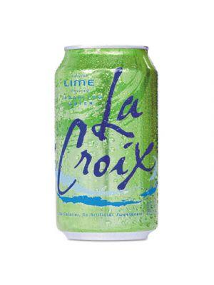 Sparkling Water, Lime Flavor, 12oz Can, 24/Carton