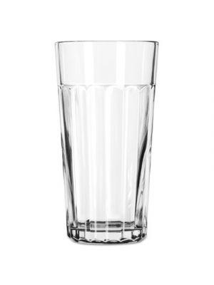 Paneled Tumblers, 20 oz, Clear, Iced Tea Glass, 24/Carton
