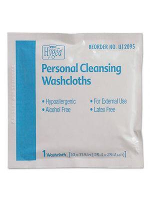 Hygea Adult Wash Cloths, 10 x 11.5, 1-Ply, White, 400/Carton