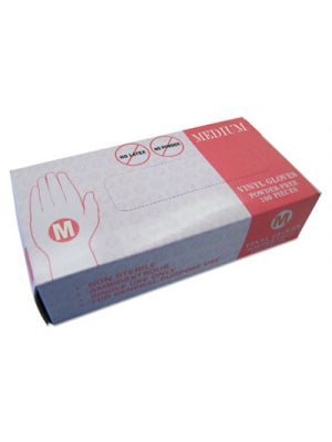 Powder Free Vinyl Gloves, Medium, Disposable, 1000/Carton