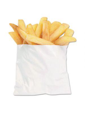 PB3 French Fry Bags, 4 1/2 x 2 x 3 1/2, White, 2000/Carton