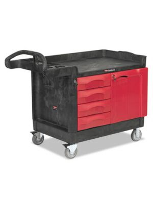 TradeMaster Cart, 750-lb Cap, One-Shelf, 26-1/4w x 49d x 38h, Black