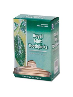 Mint Cello-Wrapped Wood Toothpicks, 2 1/2
