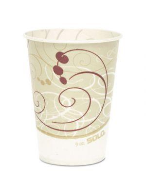 Waxed Paper Cold Cups, 9 oz., Symphony Design, 100/Bag