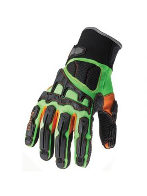 ProFlex 925F(x) Dorsal Impact-Reducing Gloves,Black-Green-Orange, X-LG, 6 PR/CT