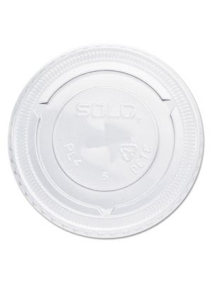 Straw-Slot Cold Cup Lids, For 7oz Plastic Cups, Clear, Plastic, 125/Bag, 20/CT