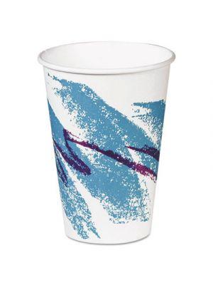 Hot Paper Vending Cups, 8 oz., Jazz Design, 100/Bag, 20 Bags/Carton