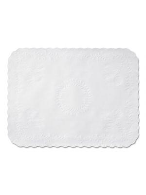 Scalloped Edge Traymat, Bond Paper, White, 16 5/8 x 12 3/4, 1000/Carton