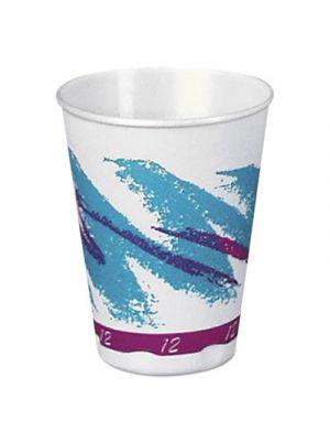 Jazz Hot Paper Vending Cups, 12oz, Blue/Purple/White, Jazz Theme, 35/PK, 20/CT