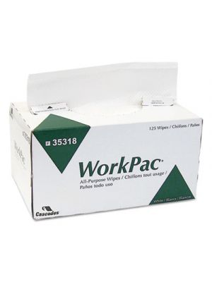 Tuff-Job All Purpose Wipers, 2-Ply, White, 8.1 x 10 1/4, 125/Box, 2250/Carton