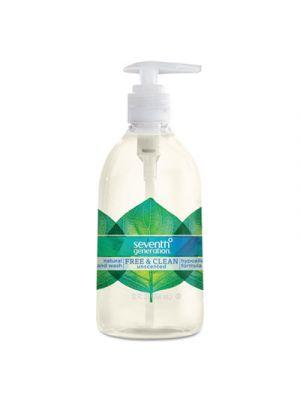 Natural Hand Wash, Free & Clean, Unscented, 12 oz Pump Bottle