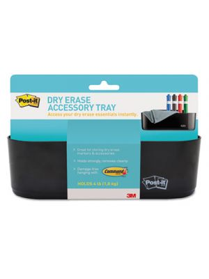 Dry Erase Accessory Tray, 8 1/2 x 3 x 5 1/4, Black