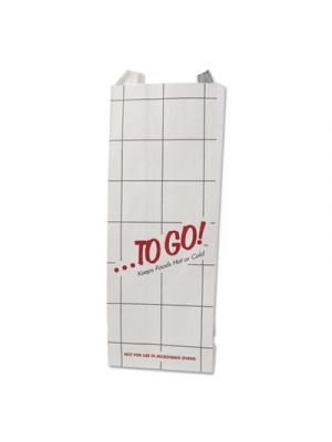Foil Sandwich Bags, 5 1/4 x 3 1/2 x 12, White, To Go!, 1000/Carton