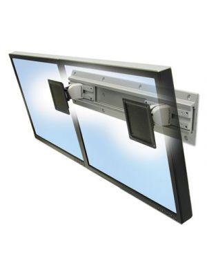 Neo-Flex Dual Monitor Wall Mount, 26 x 4 x 5, Gray/Black