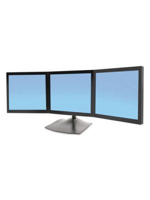 DS100 Triple-Monitor Desk Stand, 46 x 12 3/8 x 28 1/4, Black