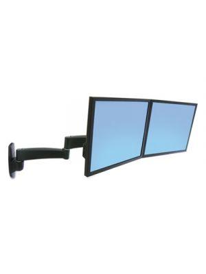 200 Series Dual Monitor Arm, 3 x 5 3/4 - 23 x 11 7/8, Black