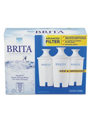 Water Filter Pitcher Advanced Replacement Filters, 3/Pk, 8 Pks/Carton