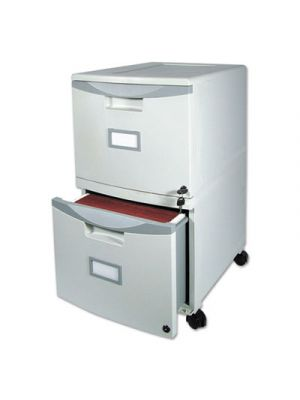 Two-Drawer Mobile Filing Cabinet, 14-3/4w x 18-1/4d x 26h, Gray