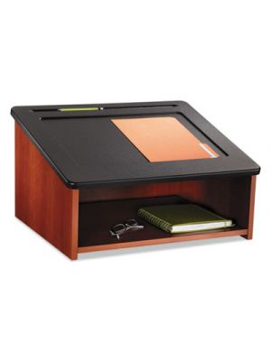 Tabletop Lectern, 24w x 20d x 13-1/2h, Cherry/Black