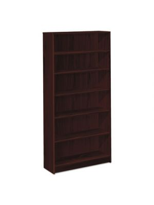 1870 Series Bookcase, Six Shelf, 36w x 11 1/2d x 72 5/8h, Mahogany