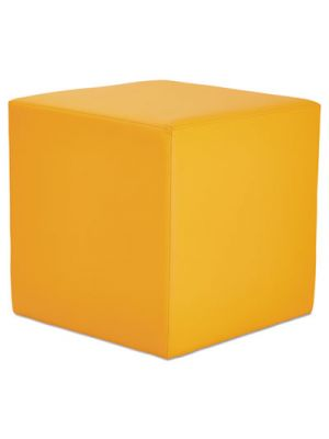 Alera WE Series Collaboration Seating, Cube Bench, 18 x 18 x 18, Saffron