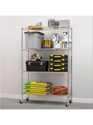 Complete Wire Shelving Unit w/Caster