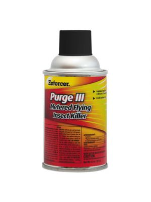 Purge III Metered Flying Insect Killer, 6.4 oz Aerosol, Fresh Scent, 12/Carton